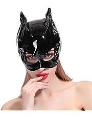 PRETYZOOM Maschera Per Cappuccio in Pelle PU Donna Occhi Aperti Seduzione Femminile Gioco Erotico Per Adulti Flirtare
