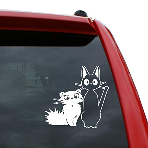 """Black Heart Decals & More Studio Ghibli/Jiji and Lily Vinyl Decal Sticker 