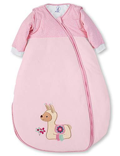 Sterntaler Schlafsack Kuschelzoo für Kleinkinder, Abnehmbare Ärmel, Wärmeregulierung, Reißverschluss, Größe: 110, Rosa
