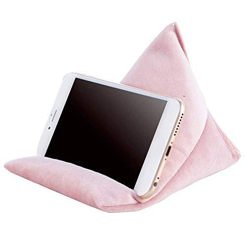 FunYake Telefon Ständer Kissen Lazy People Handyhalter Weich Tragbar Telefon Kissen Sitzsack - Rosa