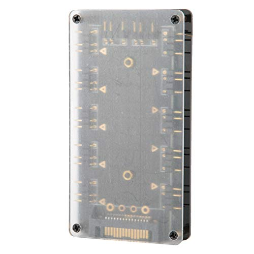 Aoutecen Ventilador Divisor de Ventilador de concentrador 10 en 1 Ventilador de concentrador RGB Concentrador de Ventilador Amplia compatibilidad RGB 5V 50cm Interfaz de alimentación SATA eficiente
