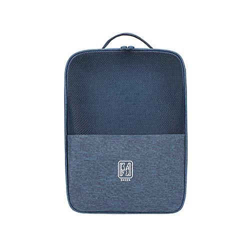 Mossty Portable Travel Shoe Bags, Waterproof Foldable Mesh Shoe Organizer Men Women, Shoe Storage Bags Hold 3 Pairs(navy blue)