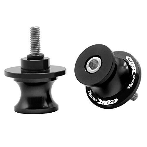 2pcs Diabolos M8*1.5 CNC Aluminio 8mm Tornillos para Honda CBR600RR CBR 600 RR 2007-2020 CBR600RR ABS 2009-2020(Negro)