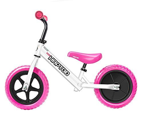 HAPTOO Laufrad ab 2 Jahre Mädchen 360 ° Drehung, 10+ Laufräder für Kinder 1-5 Jahre, Lenker-und Sattelhöhenverstellbar