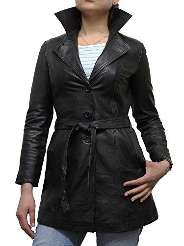 BRANDSLOCK Womens Real Sheepskin Blazer Jacket Coat BNWT X-Large(14) Black