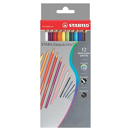 STABILO aquacolor matita colorata acquarellabile colori assortiti - Astuccio da 12