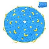 Bnineteenteam Paracaídas para niños, Juguetes para paracaídas de 6 pies con 8 manijas para Juegos Infantiles, Juegos para niños, Juegos al Aire Libre