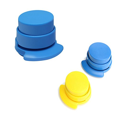 AKOAK Stapler Without Staple,Mini Stapler Paper Grip with 5 Sheet Capacity,Kid Safe,1 Piece,Random Color