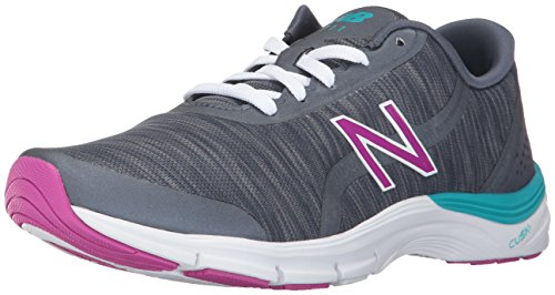New Balance Women's 711V3 Heather Cross-Trainer-Shoes, Thunder/Poisonbery, 9.5 D US