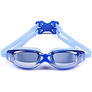 High Quality Anti-fog Mirror Myopic Optical Swimming Goggles (Diopter -1.5 to -8.0), Gift Ideas! (Blue, -2.5)