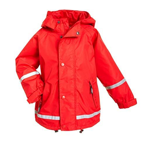 BMS atmungsaktive Regenjacke für Kinder, rot, Größe 110