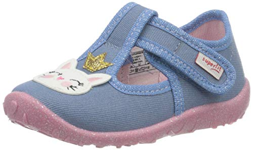 Superfit Baby - Mädchen, Hausschuh, Blau(BLAU 8500), 20 EU