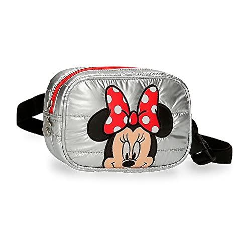 Disney Minnie My Pretty Bow Riñonera Gris 17x12x6 cms Poliéster