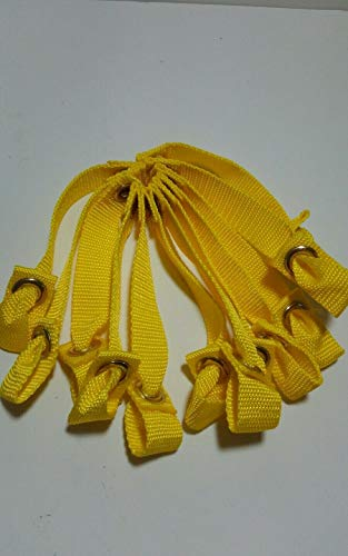 Potter Place Farm Tie Cord Hitches, Nylon Hitches, One Dozen for Poultry, Chickens, Gamefowl