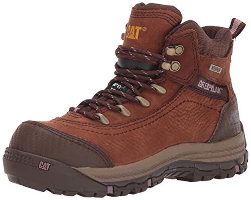 "Caterpillar Women's Ally 6"" Waterproof CT Construction Boot Brown 11 W US"