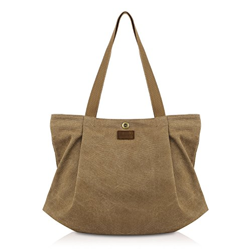SMRITI Canvas Tote Bag for Women School Work Travel and Shopping – Coffee