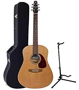 This is the Seagull S6 Original Dreadnought Acoustic Guitar with guitar stand and hardcase