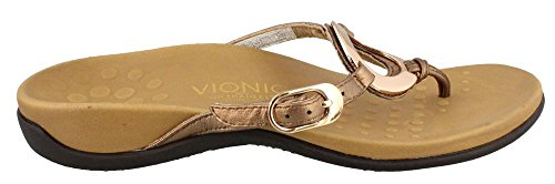 Vionic Women's Rest Karina Toe-Post Sandal - Ladies Flip- Flop with Concealed Orthotic Arch Support Orange 6 M US