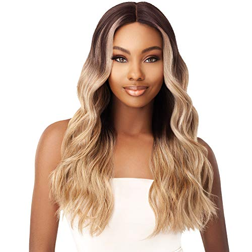 Outre Synthetic I-Part Swiss Lace Front Wig STEVIE (1B)