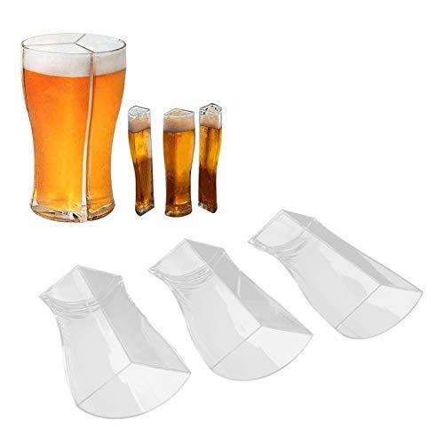 Meiyya Vaso Divisor de Licor, Accesorio para Fiestas Vaso de Cerveza para Bares KTV para restaurantes para Festivales para Fiestas