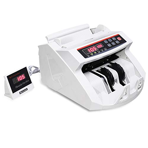 COSTWAY Upgraded Banknote Counter, Counts 1000 Notes/min and More, Multi...