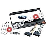 Sound-Way - Kit de Montaje Marco Adaptador autoradio 1 DIN para Ford Focus/Fiesta/Mondeo/Escort/Transit + Conector ISO y Llaves
