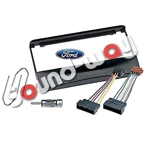 Sound-way 1 DIN Radiopaneel Frame Autoradio, Antenne Adapter, ISO Aansluitkabel, Demontage Sleutels, ondersteuning voor Ford Focus, Fiesta, Mondeo, Escort, Transit