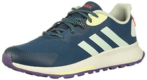 adidas Damen Quesa Trail X Laufschuhe, Blau (Tech Mineral/Grün/Gelb), 41 1/3 EU