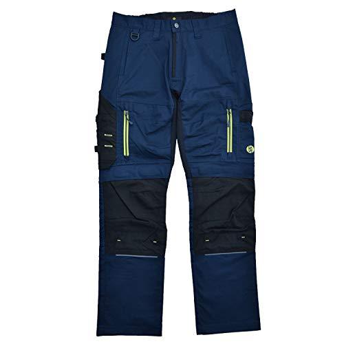 HANS SCHAEFER Workwear – Lange Arbeitshose für Herren – Modische Cargo-Bundhose mit Knietaschen und Cordura-Verstärkung – Stretch-Slim-Fit