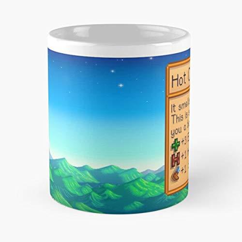 Hot Stardew Chocolate Cute Valley Best Taza de café de cerámica de 325 ml