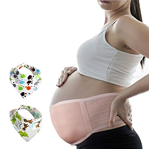 Pregnancy Belt, Maternity Belly Support Band, Breathable Abdominal Binder Brace, Relieve Hip, Pelvic, Lumbar & Lower Back Pain, Comfortable Prenatal Cradle for Baby, Adjustable Size