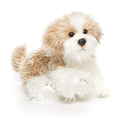 DEMDACO Small Maltipoo Dog Curly Light Brown White Children's Plush Stuffed Animal Toy