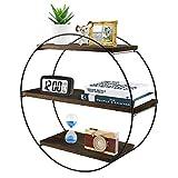 Anicoll Wandregal Rustikale schwimmende Holzregale, dekoratives Wandregal für Schlafzimmer, Wohnzimmer, Badezimmer, Küche, Büro