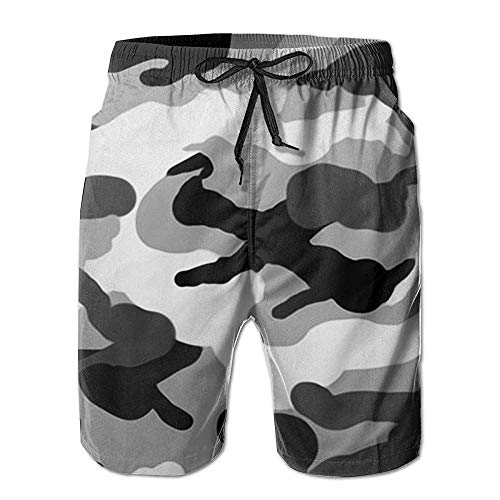 Pantaloni Casual di Moda Casual d'Epoca Uomini Uomini degli Moderna Costume da Bagno Shorts Asciutto Rapido della Spiaggia di Shorts ndash L'Australia Canguri (Color : Grau Camo, One Size : M)