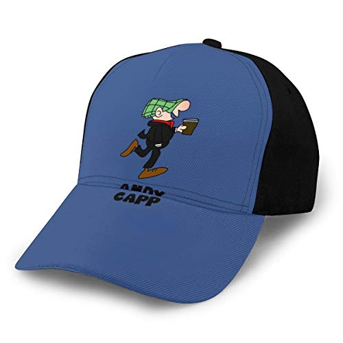 N/ Andy CAPP Retro Vintage Cartoon Cap Cappello Da Baseball Nero