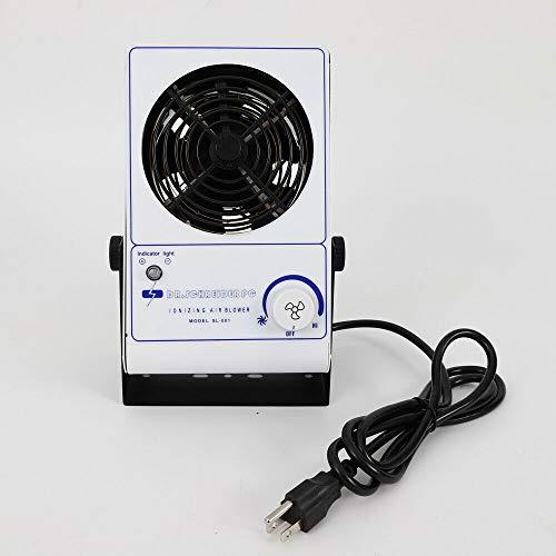 DONSU 110V Ionizing Air Blower Fan Anti Electrostatic Ion Blower Anti-Static Ionizer ESD Static Electricity Electrostatic Elimination Eliminator Fan