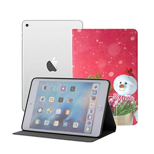 iPad Mini 1/2/3 Case - 360 Degree Rotating Stand Smart Cover Case with Auto Sleep Wake Feature,New Year Christmas Concept Beautiful Winter