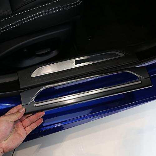 Acier Inoxydable 304 Tronc Pare-Chocs Intérieur de la Porte Sill Scuff Plate Protector Cover Garniture Noir pour XE 2015-2017