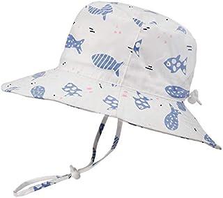 Sombrero para bebé ajustable – al aire libre para piscina o playa, sombrero para niños UPF 50 + banda ancha para barbilla de verano
