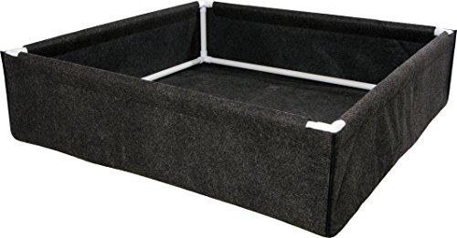 Hydrofarm HGDPB4X4, 4' x 4' Fabric w/PVC Frame Dirt Pot Box, 4x4, Black