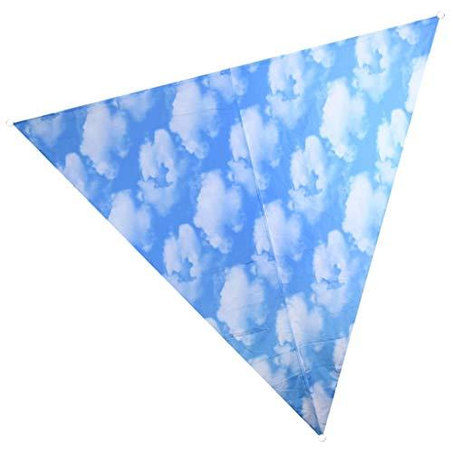 Nature Prints Voile d'ombrage Triangulaire avec Sac de Rangement Motif Ciel