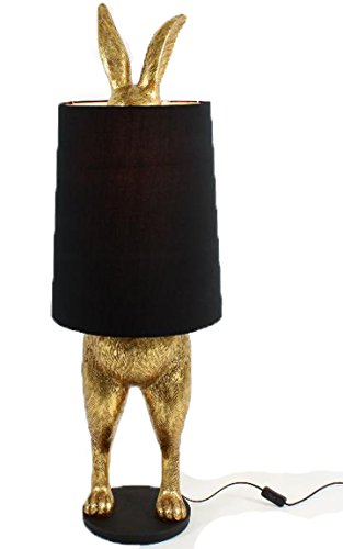 Bada Bing Hochwertige Ca. 105 cm Große Stehlampe Hase Tischleuchte Gold Lampe Dekolampe Extravagant Edel 22