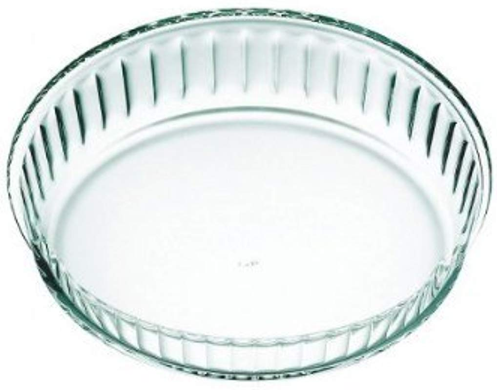 Simax Clear Glass Fluted Cake Dish Shallow Heat Cold And Shock Proof Made In Europe 11 Inch