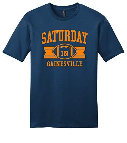 Throwbackmax 'Saturday in' NCAA Football Tee Shirt - SEC Florida Gators - Any 2 Tees for 33 (Faded Royal, Large)