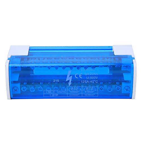 215 Scatola di distribuzione dei morsetti Morsetti per circuiti di terra Din Rail monofase a 2 livelli con coperchio trasparente per cavo elettrico di