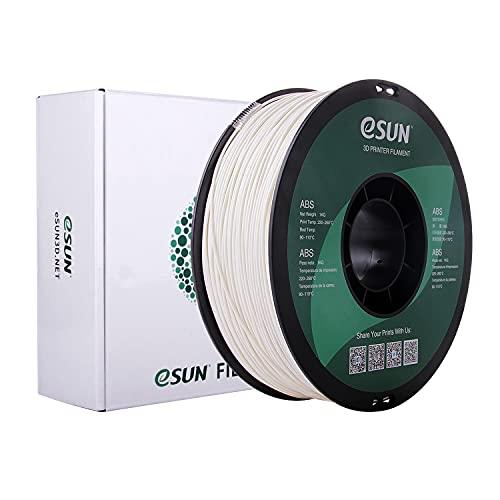 eSUN Filamento ABS 1.75mm, Stampante 3D Filamento ABS, Precisione Dimensionale +/- 0.05mm, Bobina da 1KG (2.2 LBS) Materiali di Stampa 3D per Stampante 3D, Bianco Caldo