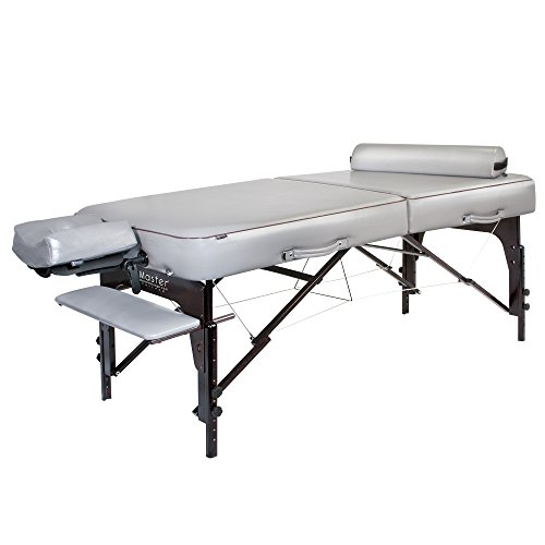 "Master Massage Montour Lx Massage Table Package with 3"" Memory Foam,Dove Grey"