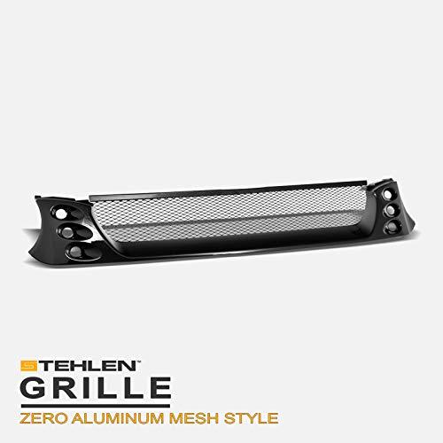 Stehlen 642167820352 Zero Aluminum Mesh Front Hood Bumper Grille - Black For 2002-2003 Subaru Impreza WRX