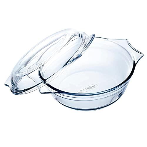 Ô Cuisine - Cacerola redonda de vidrio con tapa, de 9 x...