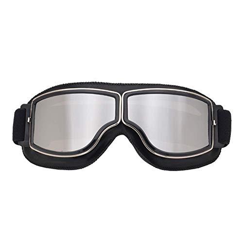 Phnirva Retro Sports Gafas de Sol Casco Steampunk Gafas para Exterior Motocross Cruiser Scooter - 1